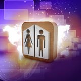 Man and woman icons Royalty Free Stock Photos