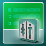 Man and woman icons Royalty Free Stock Images