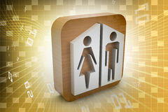 Man and woman icons Stock Images