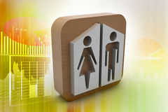 Man and woman icons Stock Image