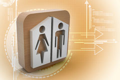 Man and woman icons Stock Photography