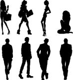Man and Woman icons Royalty Free Stock Photo