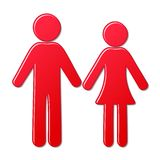 Man and woman icons Stock Photo