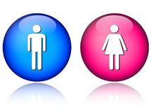 Man woman icons Royalty Free Stock Photos