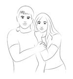 Man and woman illustration Love concept Stock Image