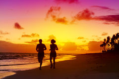 Man and woman jogging. Stock Photo
