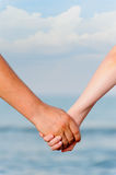 The man and the woman keep for hands royalty free stock image