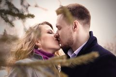 Man And Woman Kissing Royalty Free Stock Photos