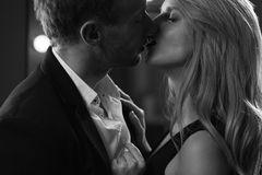 Man and woman kissing Royalty Free Stock Photo