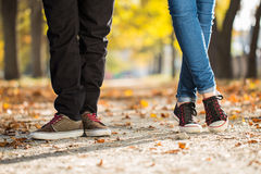 Man woman leg couple Royalty Free Stock Images