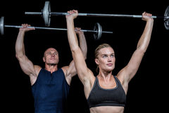 Man and woman lifting crossfit Royalty Free Stock Photography
