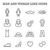 Man and woman line icons Royalty Free Stock Image