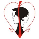 Man & woman logo Royalty Free Stock Photos