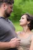Man and woman looking at each other Stock Image