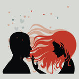 Man and woman in love Royalty Free Stock Photo