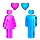 Man and woman love concept Stock Photo
