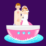 Man and Woman the Love a honeymoon. A couple of Love Character D Royalty Free Stock Photos