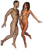 Man Woman  Love Illustration Isolated Royalty Free Stock Photography