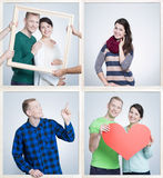Man and woman and love stock image