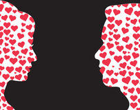 Man and woman with love symbol vector Stock Images