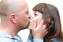 Man and woman a loving couple together Stock Image