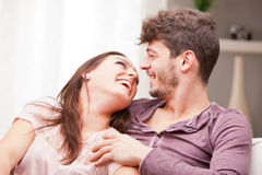Man and woman loving each other Royalty Free Stock Photo