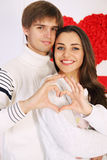 Man and woman made heart. Man and women made heart with their hands Stock Image