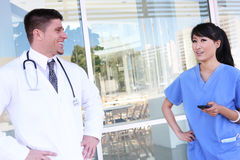 Man and Woman Medical Team Royalty Free Stock Images