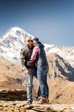 Man and woman in the mountains Stock Photos