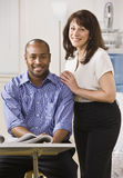 Man and Woman in Office Royalty Free Stock Photo