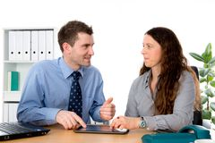Man and woman in the office Royalty Free Stock Photo