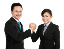 Man and woman office worker Stock Photos