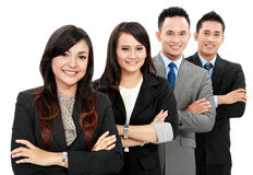 Man and woman office worker smiling Stock Images