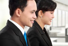 Man and woman office worker working Stock Photo