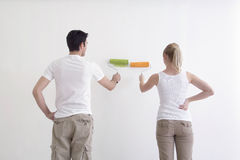 Man and Woman Painting Royalty Free Stock Images