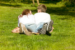 Man and woman in the park Royalty Free Stock Images
