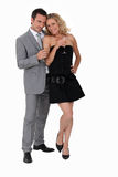Man and woman in party clothes Royalty Free Stock Image