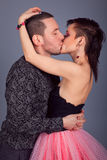 Man and woman a passionate kiss Stock Photo