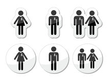 Man and woman, people with awareness ribbons icons Stock Photo