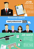 Man and woman personnel searching, selection, interviewing candidates. Royalty Free Stock Photography