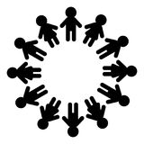 Man and woman pictogram icon sign. People round circle. Stock Photo