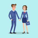 Man woman pose office, vector, male business, Stock Image