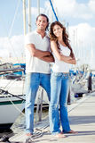 Man and woman posing in style Royalty Free Stock Images