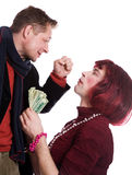 Man and woman quarrel Stock Image