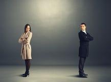 Man and woman in quarrel. Sorrowful men and women in quarrel Stock Photos