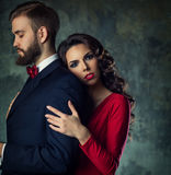 Man and woman quarrel Royalty Free Stock Image