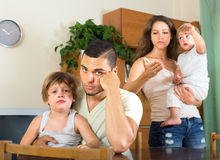 Man and woman quarreling at home Stock Photo