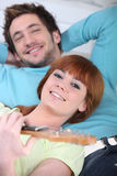 Man and woman relaxing Royalty Free Stock Photography