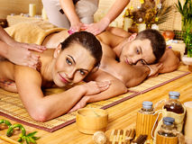 Man and woman relaxing in spa. Royalty Free Stock Photography