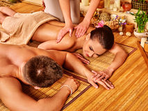 Man and woman relaxing in spa Stock Image
